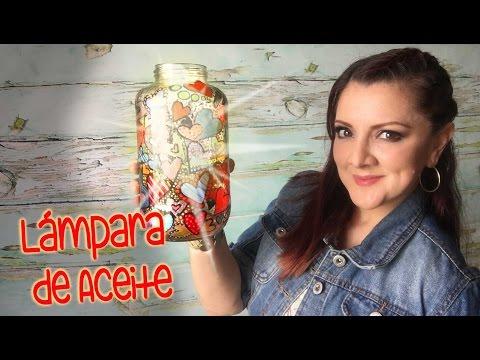 Lamparas aceite con frascos estilo vitral :: chuladas creativas ...