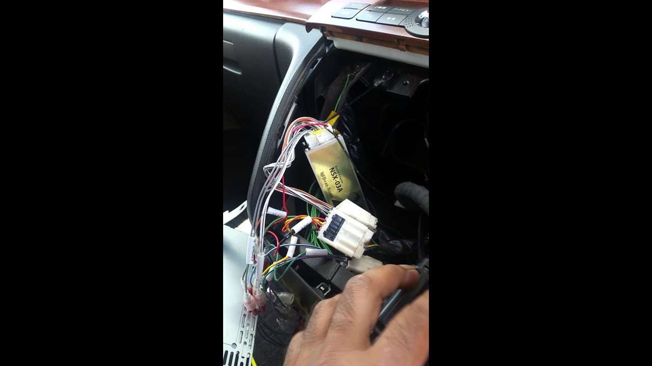 Nissan elgrand highway star e51 head unit replacem  YouTube