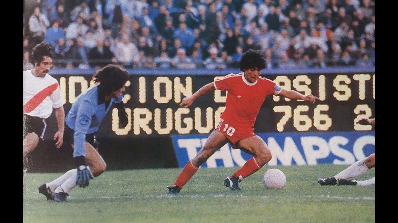 Diego Armando Maradona en Argentinos Juniors - YouTube