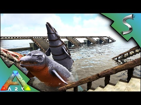THE WATER PENS! MASSIVE BASE EXPANSION & WATER DINO STORAGE! - Ark: Survival Evolved [S4E36]