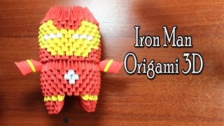Iron Man Origami 3D TUTORIAL