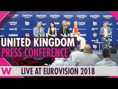 "United Kingdom Press Conference: SuRie ""Storm"" @ Eurovision 2018 