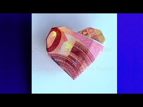money folding heart origami heart how to fold a heart with money diy youtube. Black Bedroom Furniture Sets. Home Design Ideas