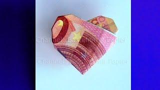 Geldscheine falten Herz ❤ Origami: Geld falten Herz. DIY Geldgeschenke basteln