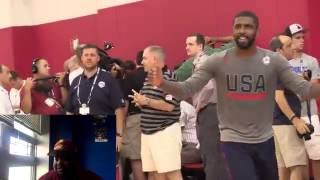 Team USA 1 On 1 DRILL -  JIMMY BUTLER AND KYRIE IRVING GET BUCKETS! -  REACTION - Facecam