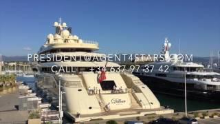 DILBAR 156 meter yacht in ANTIBES.President@Agent4stars.com
