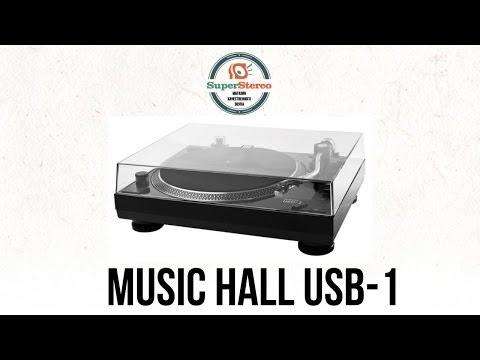Виниловый проигрыватель MUSIC HALL USB 1