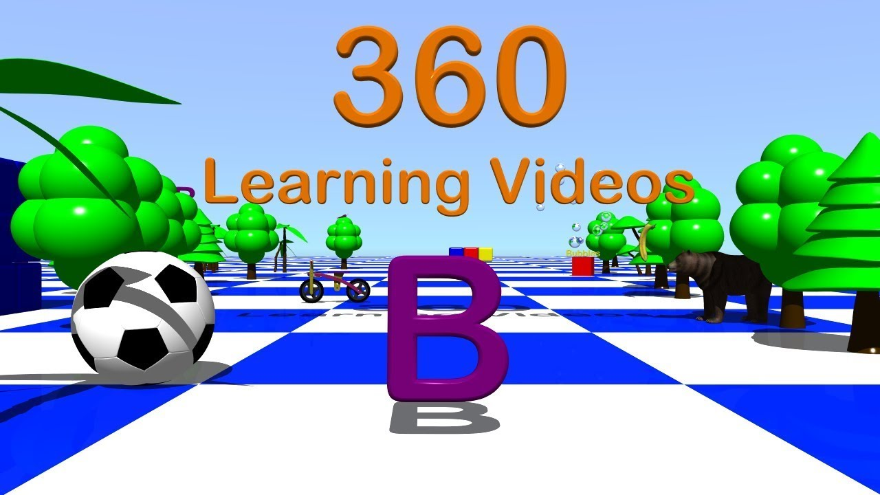 Letter B   360° 3D Animated VR Kids Video   YouTube