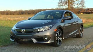 2016 Honda Civic Coupe 1.5L Turbo Test Drive Video Review