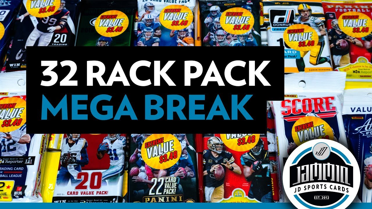 32 Random Football Rack Pack Mega Break Wal Mart Sale Packs Youtube