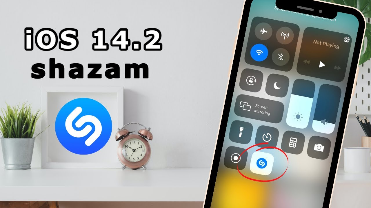 Download iOS 14.2 Update: Shazam on Control Center