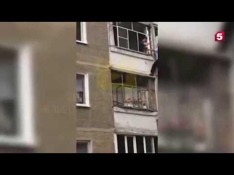 Видео спасения младенца которого отец грозился выбросить из окна в Саранске