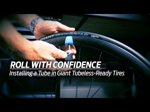 How to Install a tube into a Giant Gavia Tubeless-Ready Bicycle Tire