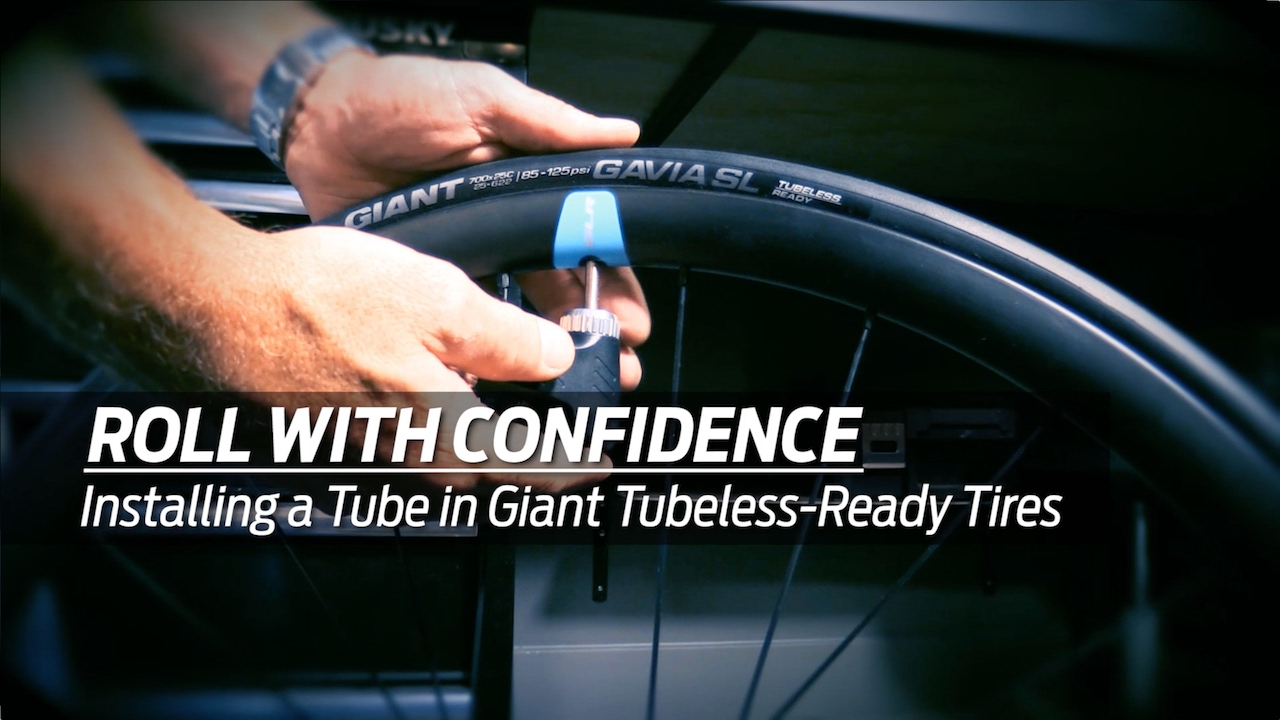 bd27871fa24 How to Install a tube into a Giant Gavia Tubeless-Ready Bicycle Tire ...