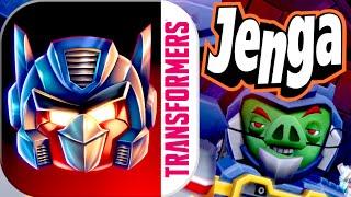 JENGA!!! Angry Birds Transformers Part 2 Gameplay Walkthrough (iPhone, iPad, iOS, Android Game)