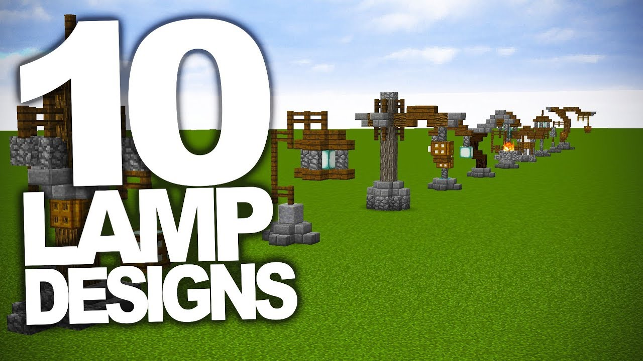 10 Interesting Lamp Designs In Minecraft - YouTube