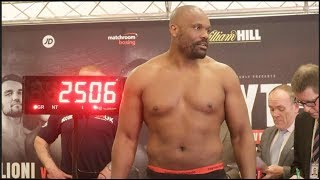 DERECK CHISORA v ZAKARIA AZZOUZI - OFFICIAL WEIGH IN & HEAD TO HEAD