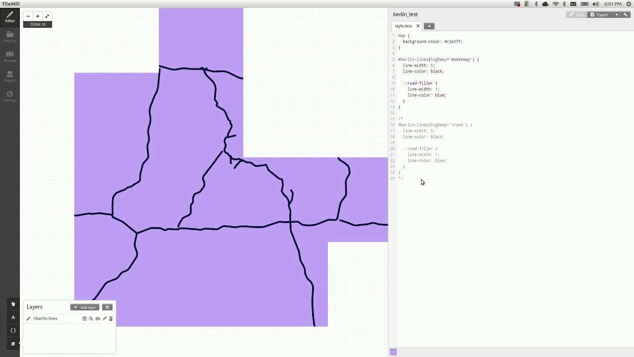 TileMill with OpenStreetMap Data
