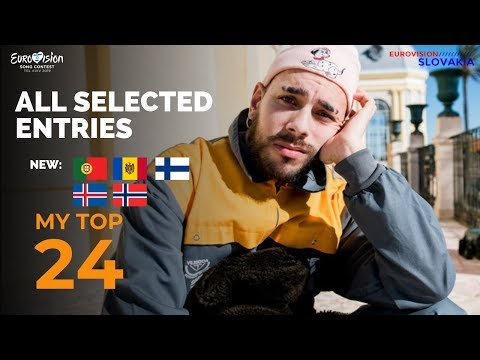 EUROVISION 2019 - MY TOP 24 (SO FAR) // New: 🇵🇹🇳🇴🇲🇩🇫🇮🇮🇸