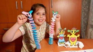 DIY! Игрушка ЗМЕЯ из бумаги. Простые поделки - оригами змейка. Origami snake of paper.