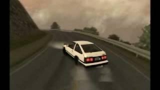 GTA SA Downhill Drift - Toyota Trueno AE86 & SAkina