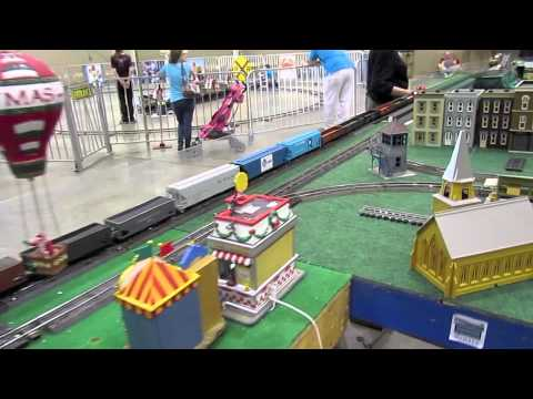 ACSG freight train with smoking caboose at the Great Train Expo 2012