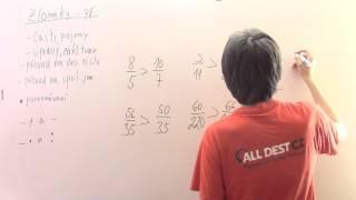 Zlomky - porovnávání - příklady