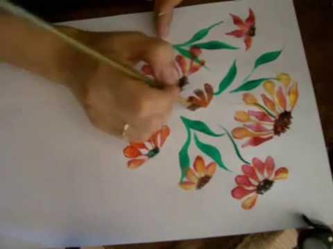 Invatam Sa Pictam 8 Flori De Toamna