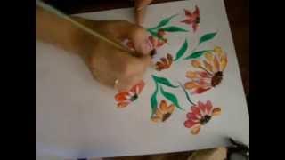 Invatam sa pictam! 8 - Flori de Toamna.