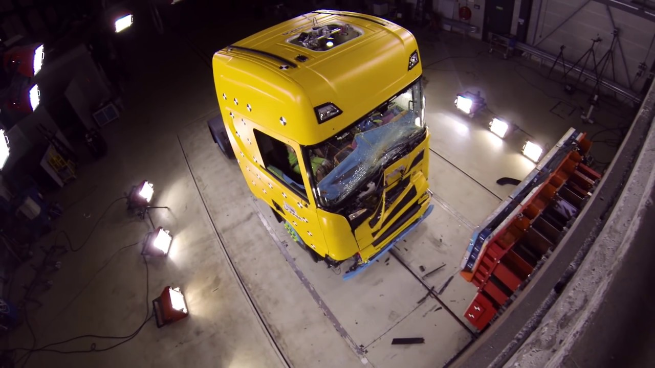 Crash Testing Scanias New Truck Generation Youtube