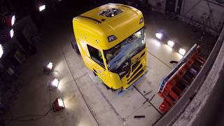 Crash testing Scania's new truck generation