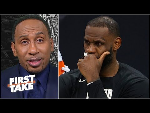 Stephen A. calls out the Lakers front office and reacts to LeBron leaving early | First Take