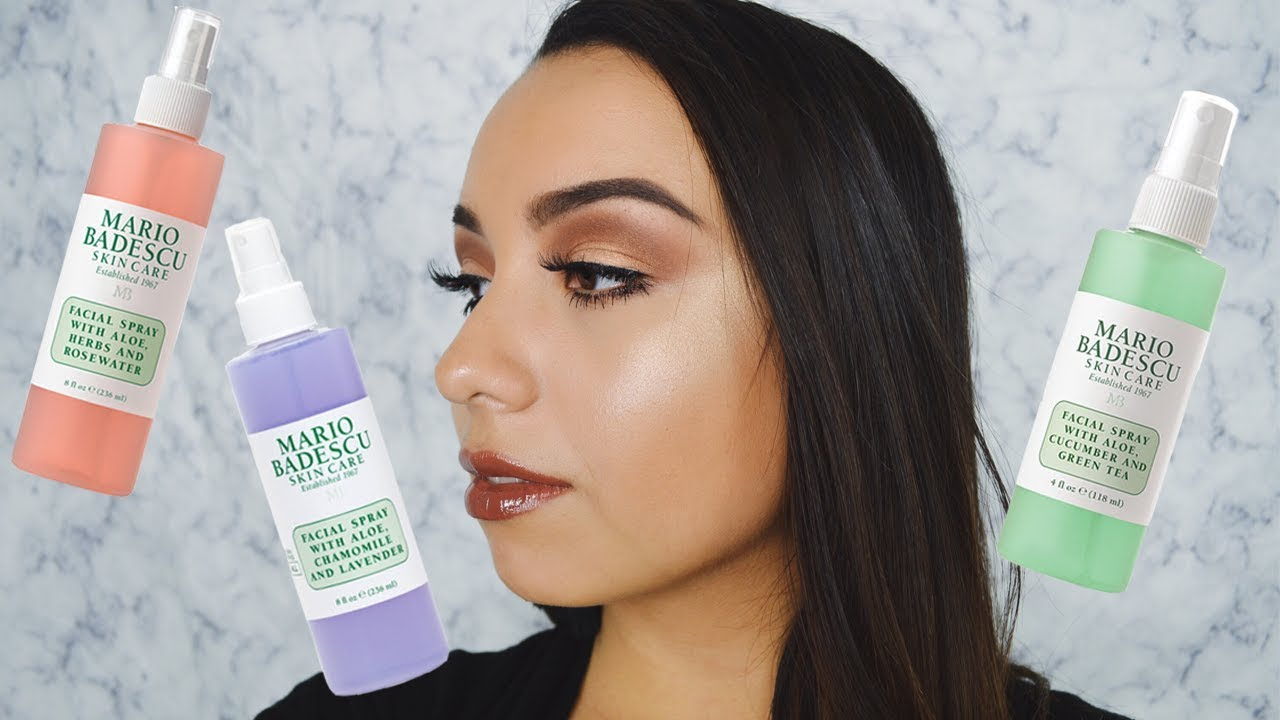Mario Badescu All 3 Facial Sprays Comparison Review