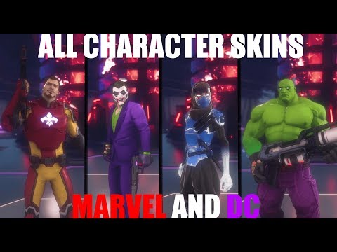 Agents of Mayhem - ALL CHARACTER CUSTOMIZATION OPTIONS (MARVEL AND DC SKINS!)