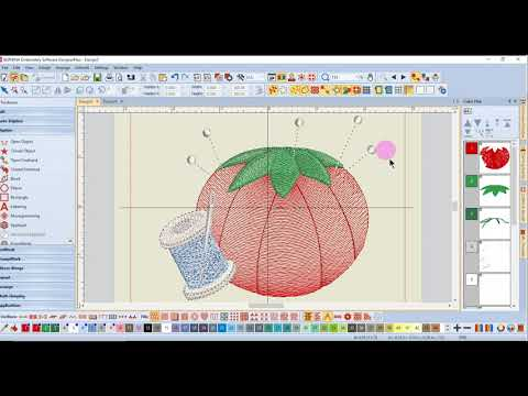 1.09 Master BERNINA Embroidery Software 8 – Getting Started – View Toolbar