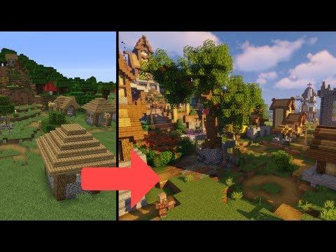 Transforming A 1.14 Plains Village | Minecraft Farm Build Timelapse