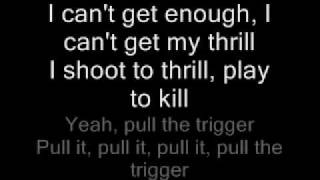 Repeat youtube video AC/DC-Shoot to Thrill Lyrics