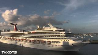 Cruise Ship Horn Battle from the Carnival Breeze JAN 2013 HD 1080p