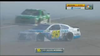 Monster Energy NASCAR Cup Series 2017. Michigan International Speedway 2. Michael McDowell Spins