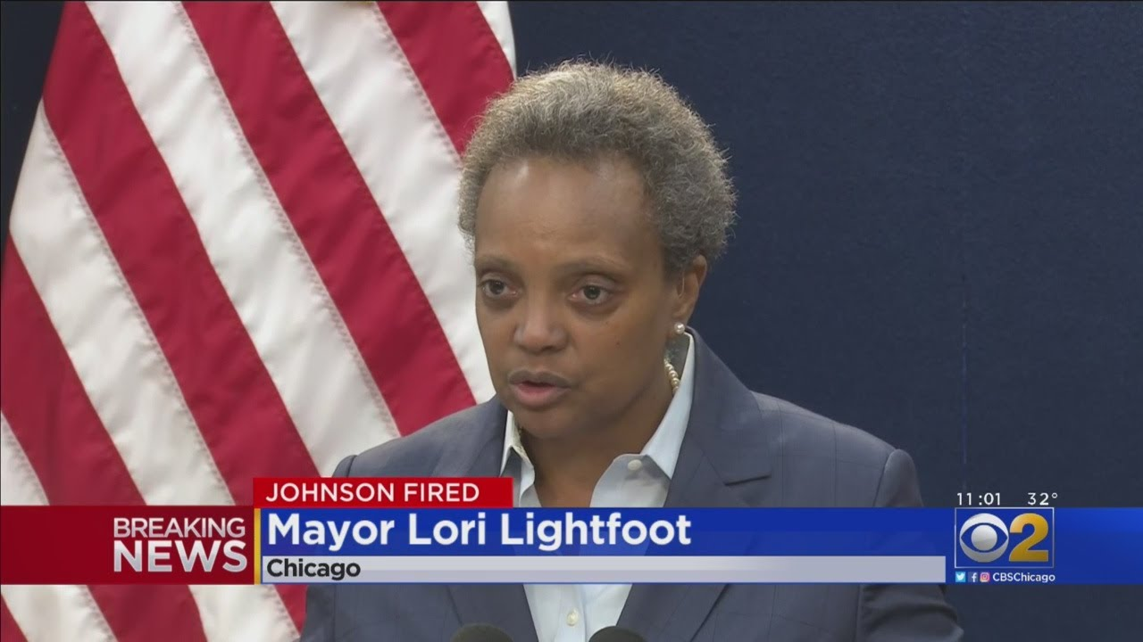 Mayor Lori Lightfoot Fires Police Supt. Eddie Johnson