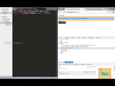 Learn Ajax With PHP : 8 Using HTML/PHP To Return Data