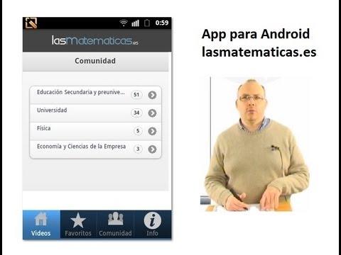Matemáticas - App De Lasmatematicas.es