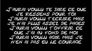 KENZA FARAH - J'AURAI VOULU TE DIRE (LYRICS)