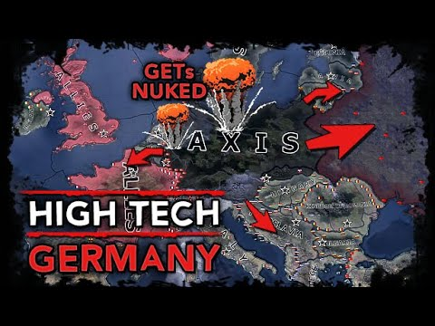 [HoI4] AI Only Timelapse - Elite Germany w/ Tank 3's and Jet Fighters in 1936? Allies nuke Europe! |