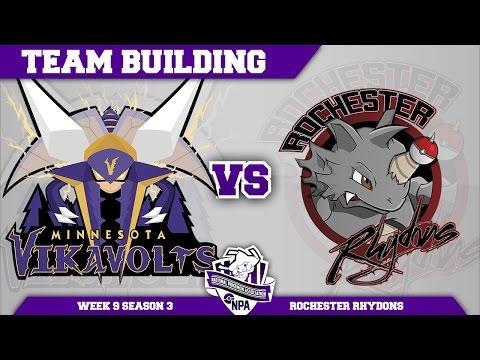 Minnesota Vikavolts Team Building NPA S3 Week 9: VS Rochester Rhydons | Pokemon Sun and Moon