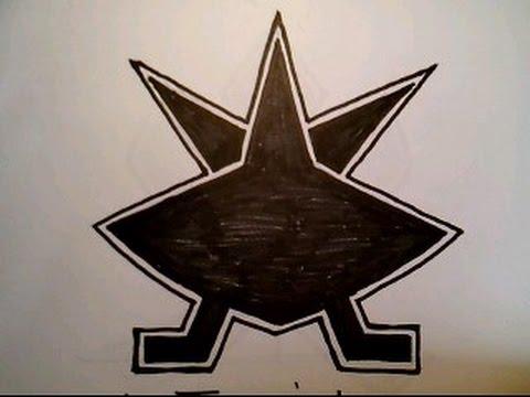 How To Draw Gold Power Ranger Antonio Super Samurai Symbol Doodle On