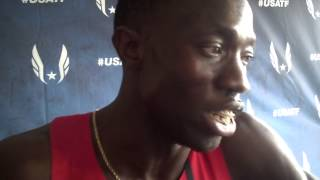 Lopez Lomong happy after 1500 semis at 2014 USATF Outdoor Championships