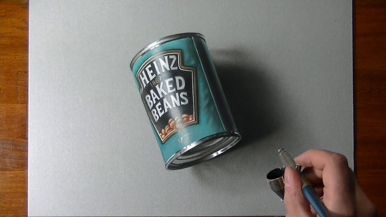 Speed drawing a can of beans