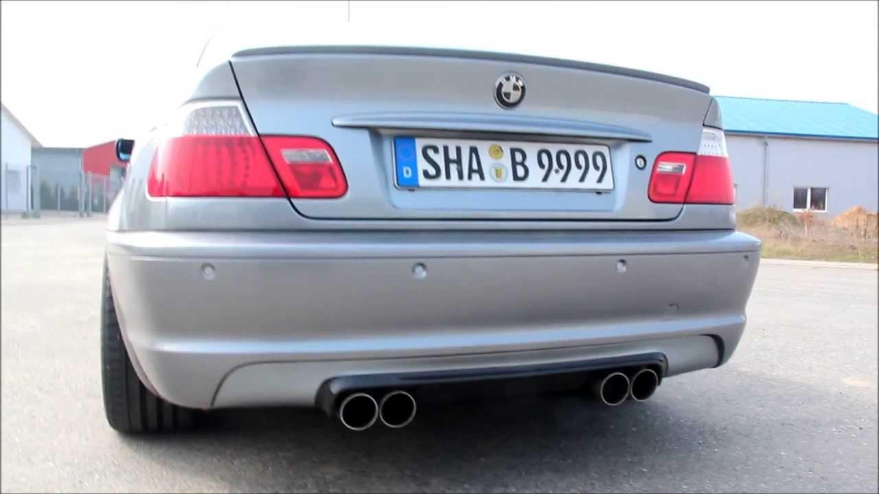 E46 M3 Look Sportauspuff Für Alle 3er Bmw Hier Am Bmw E46 330ci
