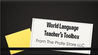Spanish Teacher Toolbox Preview